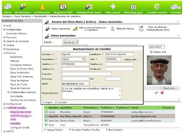 Configuración del Portal dentro de Geriges.