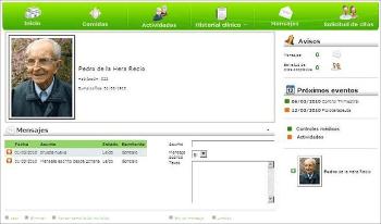 Vista de enviar y recibir Mensajes y Avisos en El Portal del Familiar