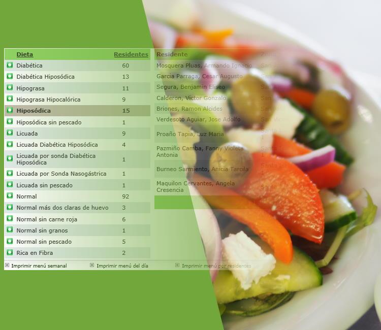 Dietas y Menu del día. Imagen destacada.