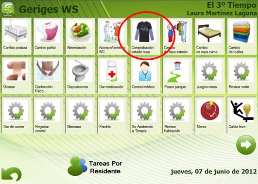 Registro de actividades en GerigesWS