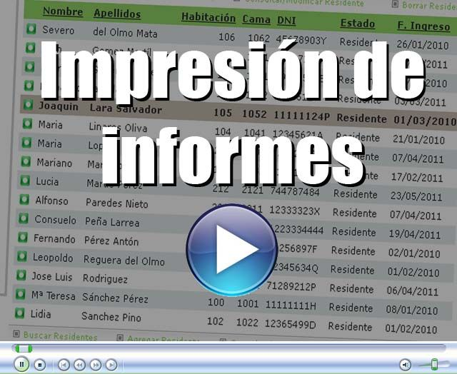 Video Módulo de Informes en Geriges